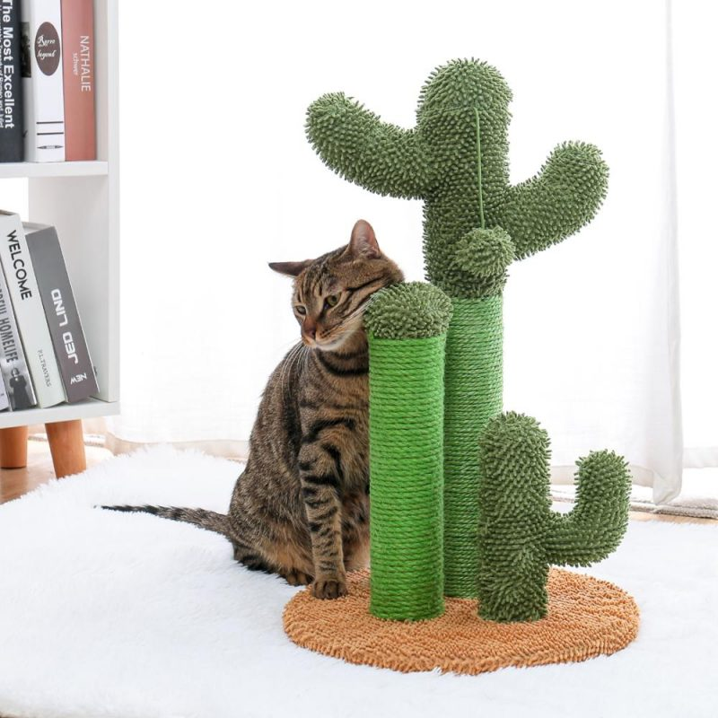 Cute-Cactus-Pet-Cat-Tree-Toys-with-Ball-Scratcher-Posts-for-Cats-Kitten-Climbing-Tree-Cat (5)