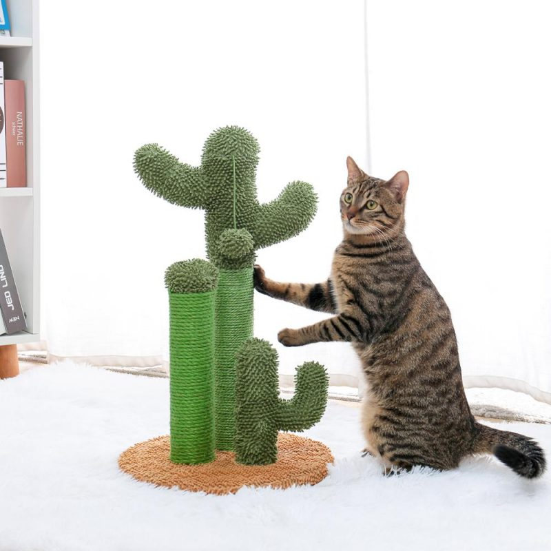 Cute-Cactus-Pet-Cat-Tree-Toys-with-Ball-Scratcher-Posts-for-Cats-Kitten-Climbing-Tree-Cat (6)