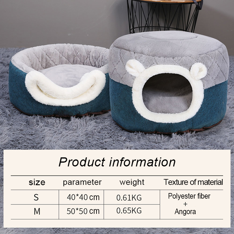 Hoopet-Pet-Cat-Basket-Bed-Cat-House-Warm-Cave-Kennel-for-Dog-Puppy-Home-Sleeping-Kennel (1)