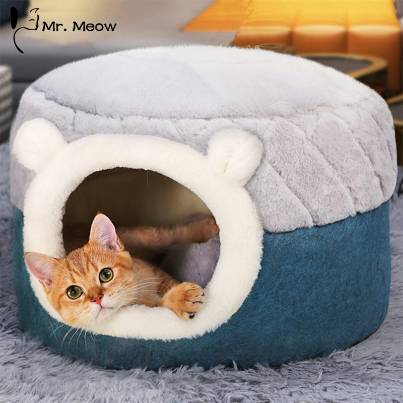 Hoopet-Pet-Cat-Basket-Bed-Cat-House-Warm-Cave-Kennel-for-Dog-Puppy-Home-Sleeping-Kennel (2)