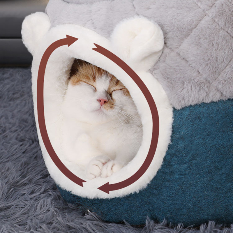 Hoopet-Pet-Cat-Basket-Bed-Cat-House-Warm-Cave-Kennel-for-Dog-Puppy-Home-Sleeping-Kennel