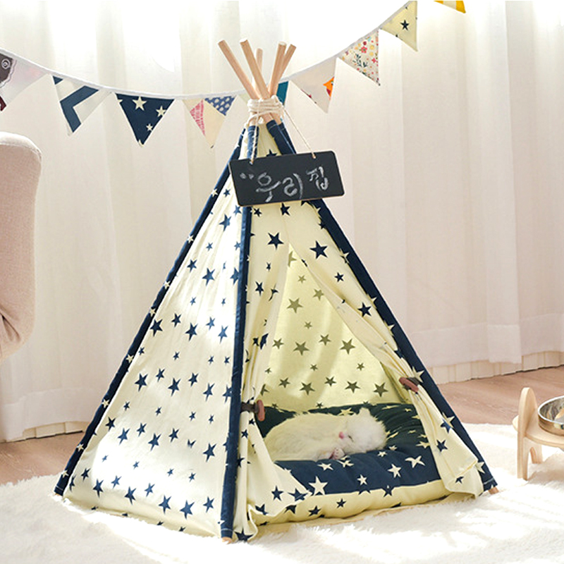 Portable-Linen-Pet-Tent-Dog-House-kitten-House-Washable-Teepee-Puppy-Cat-Indoor-Outdoor-Kennels-Port (2)