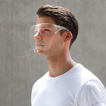 Transparent glasses mask